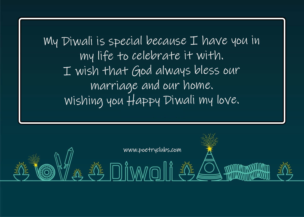 happy diwali messages for wife