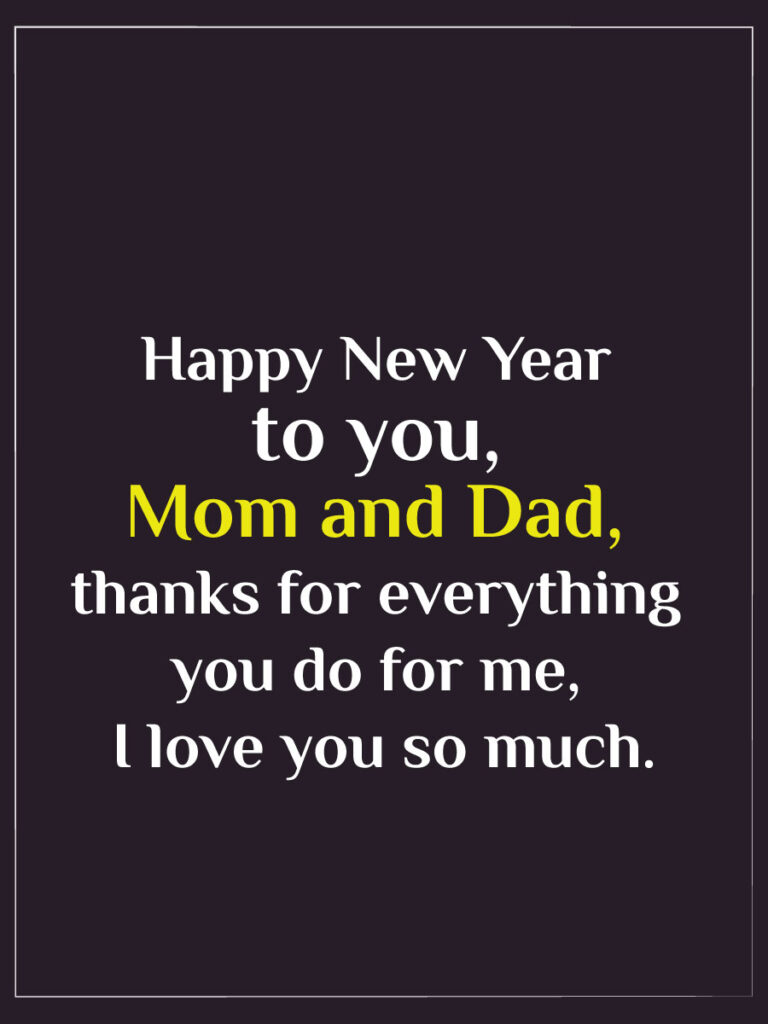 happy new year wishes 2022 for parents