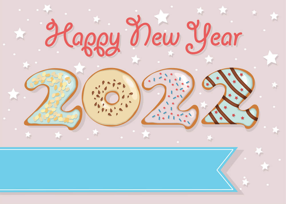 happy new year 2022 greeting cards